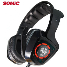 Gaming Headphone 7.1 Sound Vibration Headset Earphones USB with Mic Microphone PC Bass Stereo