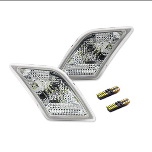 Image 2 - Gtinthebox luces laterales para Mercedes Benz W204, C250, C300, C350, C63, AMG, con LED blanco, transparente, para 2008 2011