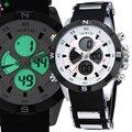 СЕВЕРНАЯ Мужчины Спортивные Часы СВЕТОДИОДНЫЙ Цифровой Наручные Часы Мужские Двойной Дисплей Часы Водонепроницаемые 2016 Мода Кварцевые Силиконовые Мужчины Спортивные Часы