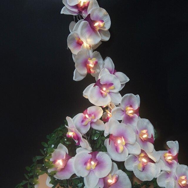 วันหยุดทำด้วยมือดอกไม้Orchid Light String,ตกแต่งคริสต์มาสงานปาร์ตี้/ใหม่ปีดอกไม้,อุปกรณ์งานรื่นเริงตกแต่งบ้าน