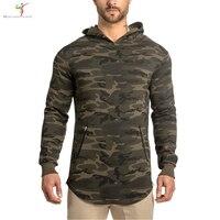 2016 NEW Arrival Gymshark Hoodies Camo Hoodie Sweatshirt Belt Patchwork Muscle Brothers Hoodies Men Sportwear
