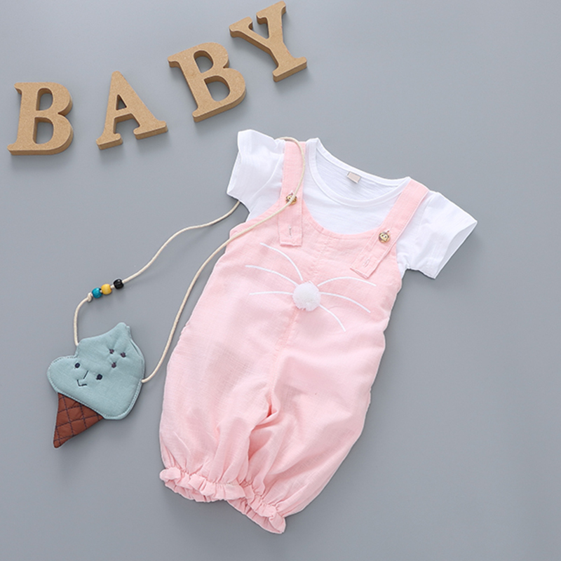 Yierying Baby Pant Clothes-Sets Short-Sleeve 2pcs Summer Coat Leisure Pure-Color Lovely
