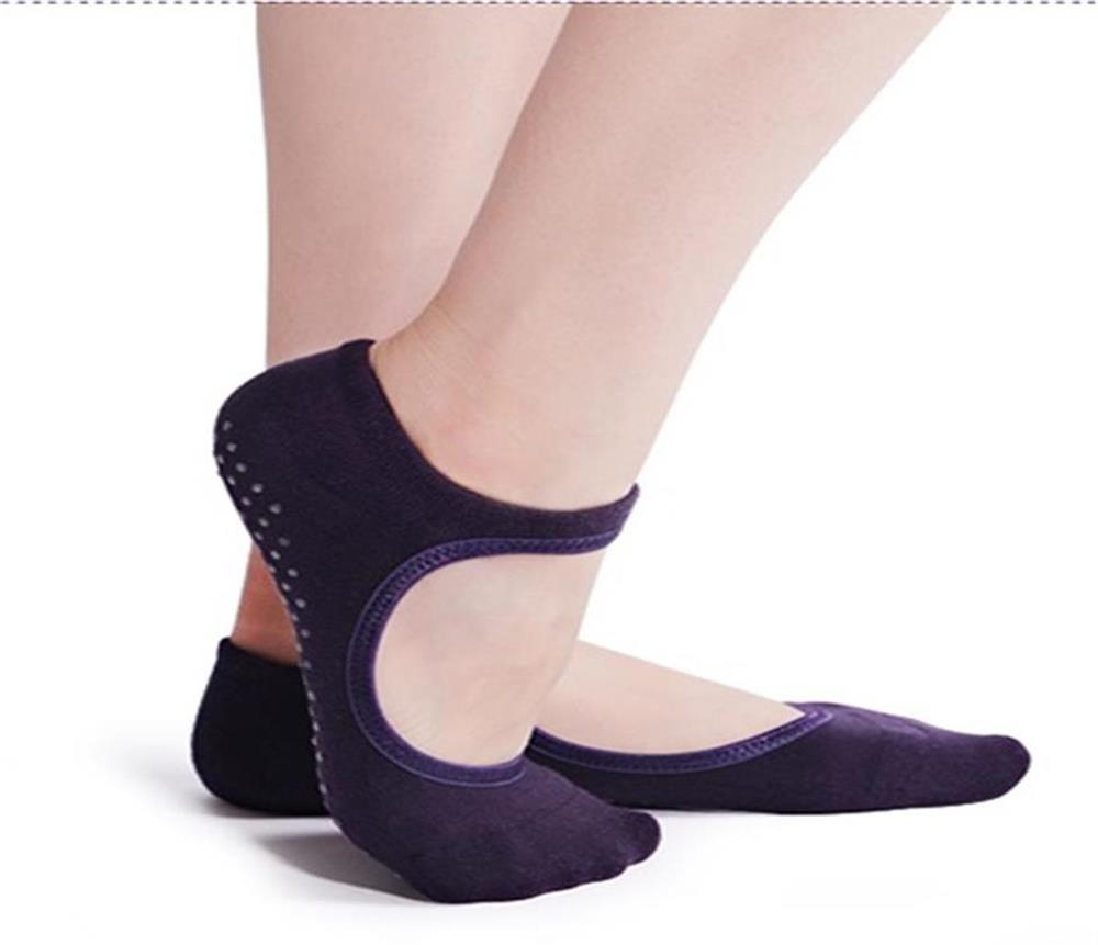 Yoga Socks Women Antibacterial Backless Floor Cotton Non-slip Pilates Socks Absorb Sweat Fitness Dance Invisible Silicone Socks