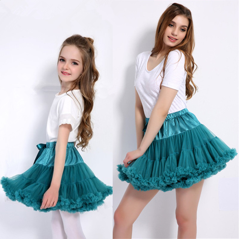 Mother Daughter Tutu Skirt Cosplay Petticoat Adjustable Princess Ballet Dance Skirts Family Matching Mom and Girl Tulle Clothes
