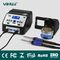 110V 220V EU US PLUG YIHUA 938D SMD Dual Soldering Iron Soldering Station LED Display SMD