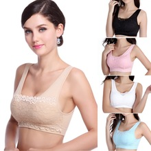 Seamless Padded Top Push-Up Bra Wirefree Shakeproof