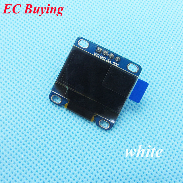 "1 Piece 0.96"" White 0.96 Inch OLED Module New 128X64 OLED LCD LED Display Module For Arduino 0.96"" IIC I2C Communicate"