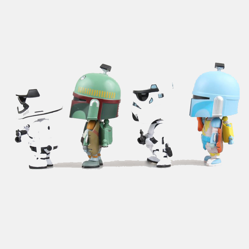 Image 3 - Car Ornament Cute Decoration Shaking Head Doll For Star Wars Stormtrooper Boba Fett Action Figure Auto Interior Bobblehead Toys-in Ornaments from Automobiles & Motorcycles
