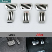 2 Pcs DIY Car Styling Aluminum Modified Throttle Brake Pedal Cover Case Stickers For Mitsubishi Outlander
