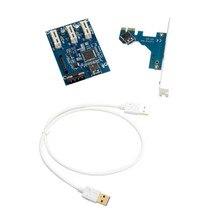 Заводская цена pci-e Экспресс 1X 3 Порты и разъёмы 1X переключатель множитель концентратора Riser Card + USB кабель 1 шт. Прямая доставка