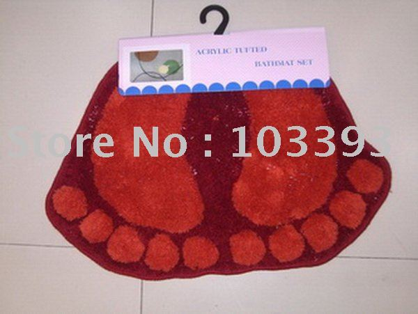 Free shipping most popular Feet mat rug 40*60cm red colour and Paypal will be ok