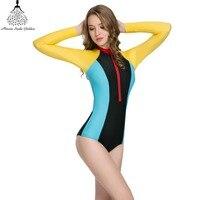 One Piece Swimsuit Swimwear Women Long Sleeve Swimwear Monokini Female One Piece Bathing Suit Bathing Clothes