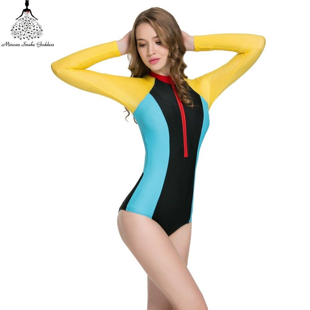 47e97b47ae023 one piece swimsuit swimwear women long sleeve swimwear Monokini female one  piece bathing suit bathing clothes swim wear Swimsuit