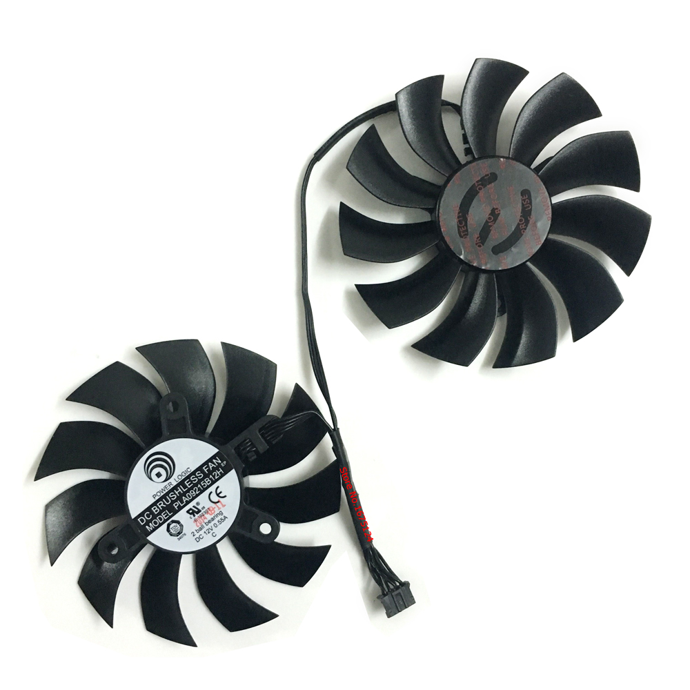2 unids/set 85mm GTX 1050Ti 1060 GPU VGA Cooler ventiladores para tarjeta gráfica EVGA gtx1060 ACX3.0 GTX1050Ti tarjetas de vídeo refrigeración como reemplazar