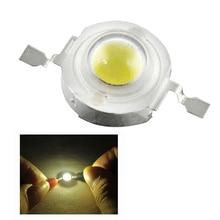 100 шт. светодиодный 1 Вт диод Высокая бусины силы 3 Вт белый светильник светодиод яркость белый
