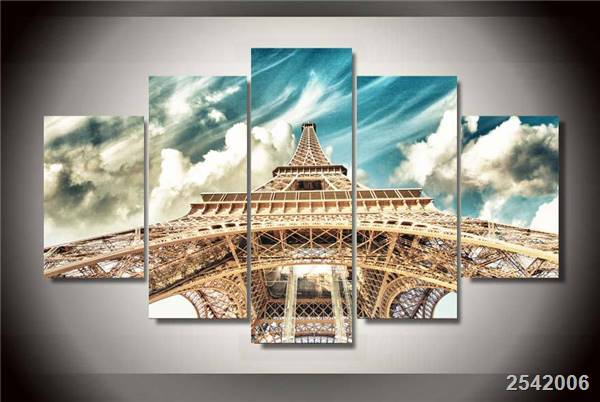 Hd Printed Eiffel Tower Painting On Canvas Room Decoration Print Poster Picture Canvas Free Shipping/Ny-1664 Christmas gift
