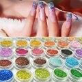 (0.2mm) Nail Art crystal shining Neon Glitter Polvo del Polvo kit Decoración Para El Gel ULTRAVIOLETA de Acrílico Consejos de BRICOLAJE accesorios del arte del clavo