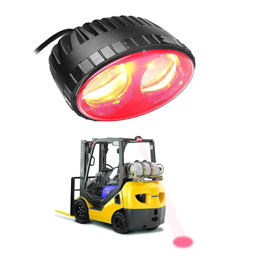 10-80 В постоянного тока 1 шт. светодиодный вилочный погрузчик красный синий свет Вилка Грузовик сафтер рабочий свет вилочный погрузчик точечный сигнальный маячок лампа бесплатная доставка