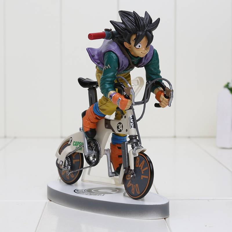 16cm Dragon Ball Z Figure Sun Gokou Riding Bicycle Desktop Real McCOY Series 02 PVC Action Figure Collectible Toy16cm Dragon Ball Z Figure Sun Gokou Riding Bicycle Desktop Real McCOY Series 02 PVC Action Figure Collectible Toy