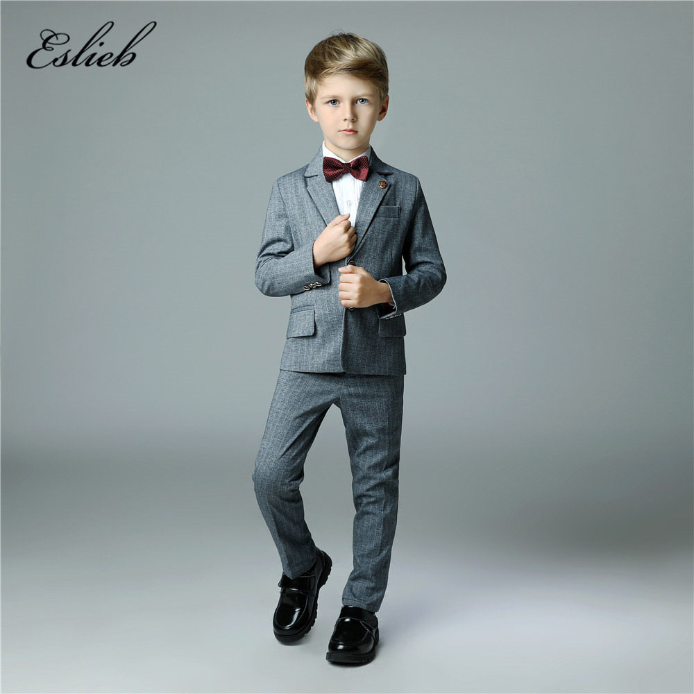 High Quality 2018 elegant Honorable Lapel Kid Tuxedos Boy\'s Worsted ...