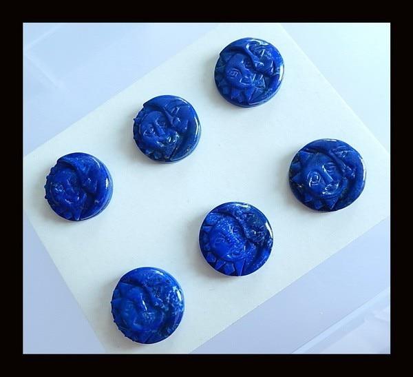 6 PCS Of Carved Lapis Lazuli fashion pendant Cabochons,20x5mm,26.7g 6 pcs of carved lapis lazuli fashion pendant cabochons 20x5mm 26 7g