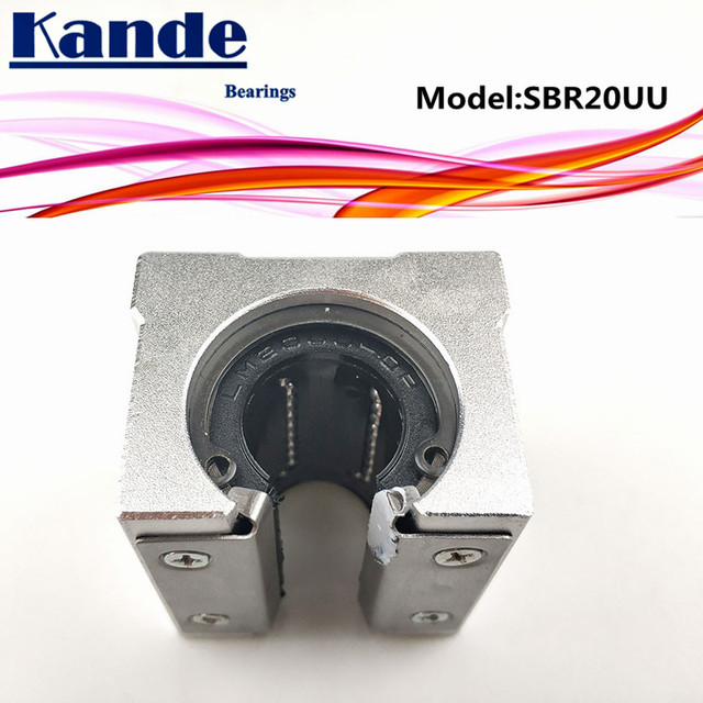Kande محامل 4 قطعة SBR20UU SBR20 UU SBR20 مفتوحة تحمل كتلة أجزاء التصنيع باستخدام الحاسب الآلي الشريحة ل 20 مللي متر دليل خطي SBR20 20 مللي متر SME20UU SME SBR