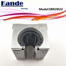 Rodamientos Kande 4 Uds. SBR20UU SBR20 UU SBR20 rodamiento abierto partes de bloque CNC deslizante para guía lineal de 20mm SBR20 20mm SME20UU SME SBR