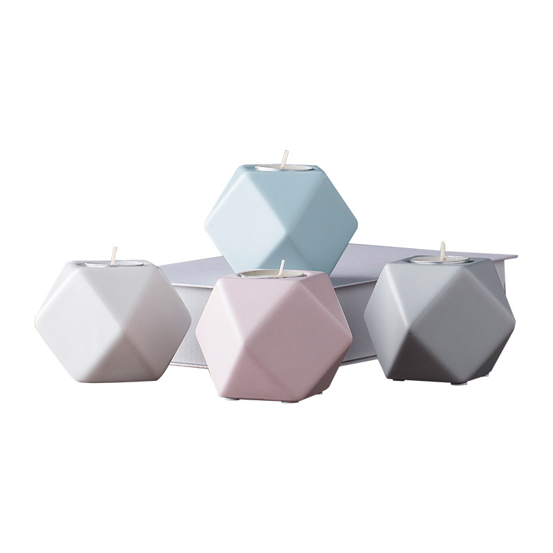 PINNY Ceramic Macaron Candle Stand Nordic Modern Holder European Crafts Holders For Wedding Centerpieces