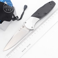 JUFULE 581 D2 blade Aluminium + G10 handle folding hunt camping Pocket outdoor Survival EDC Tool dinner Tactical kitchen knife