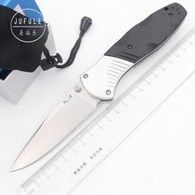 JUFULE 581 D2 blade Aluminium + G10 handle folding hunt camping Pocket outdoor Survival EDC Tool dinner Tactical kitchen knife