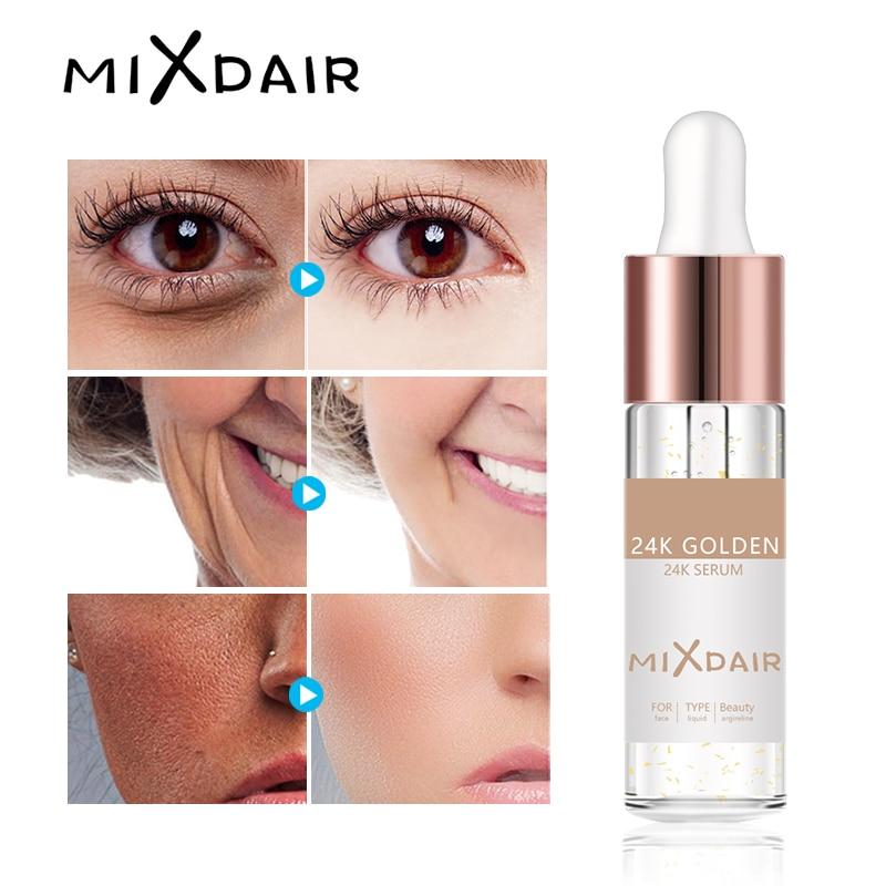 MIXDAIR 24 k Or Essence Elixir Peau Maquillage Huile Pour Le Visage huile essentielle Avant Amorce Fondation Hydratant Huile Pour Le Visage