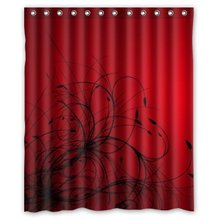 Memory Home 2017 Hot Red Black Abstract Wallpaper Polyester Waterproof  Fabric Shower Curtain Bathroom Curtains 60 X 72 Inch