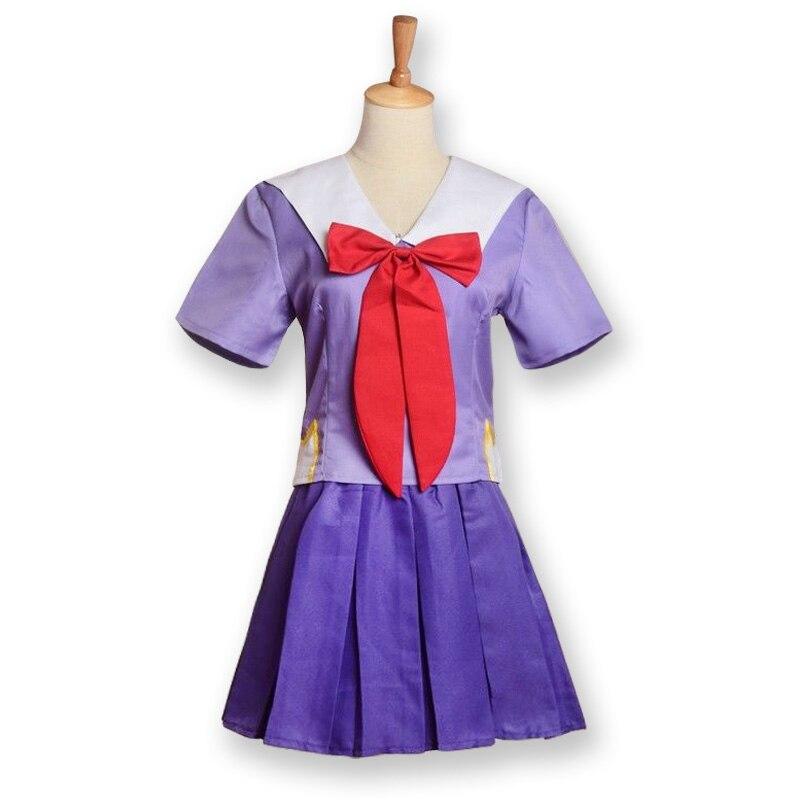 The Future Diary Gasai Yuno Cosplay Costumes Dress Uniforms Mirai Nikki Suits Women Girls Blue&Purple Tops Skirts Set