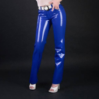 Women sexy Latex rubber pants for women casual style trousers plus size Hot sale Customize service