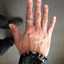 Мужские квадратные деревенские кольца из оксидированного серебра, нержавеющая сталь, мужские плоские верхние полосы, промышленные стильные мужские ювелирные изделия