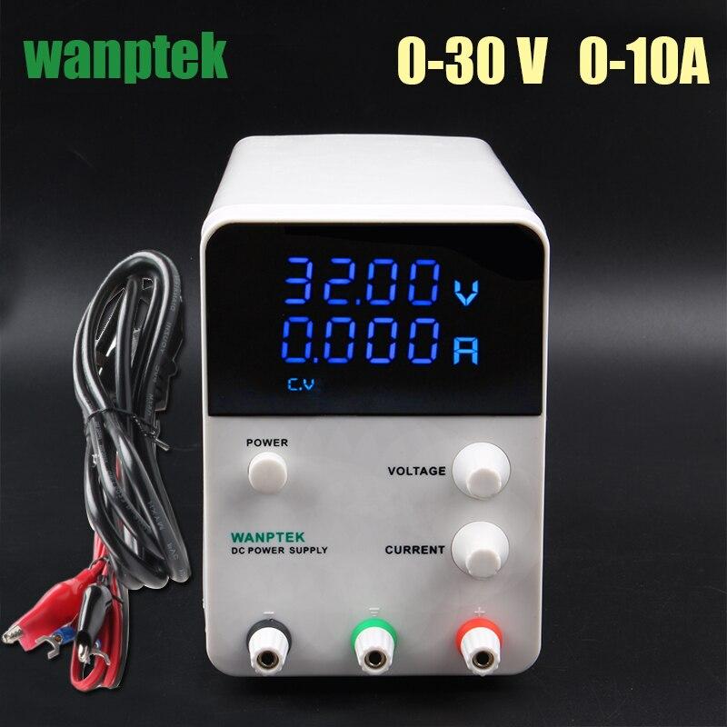 Variable fuente de alimentación DC 30 V 10A, ajustable regulado fuente de alimentación mA pantalla, 0-30 V 0-10A 300 W laboratorio fuente de alimentación conmutada