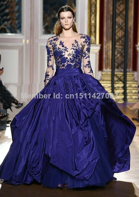 Aliexpress.com : Buy Vestidos De Novia 2015 Royal blue purple Prom ...