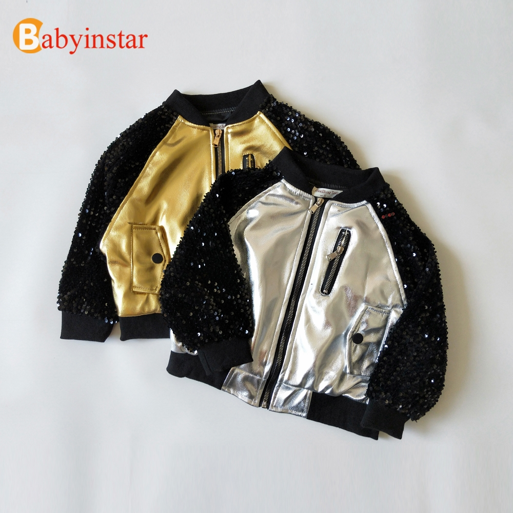 LIMITED EDITION Boutique Metallic Color Sequin Jacket For Kid Girls Boys Coat Children Outerwear & Coats Kid's Unisex Outfits