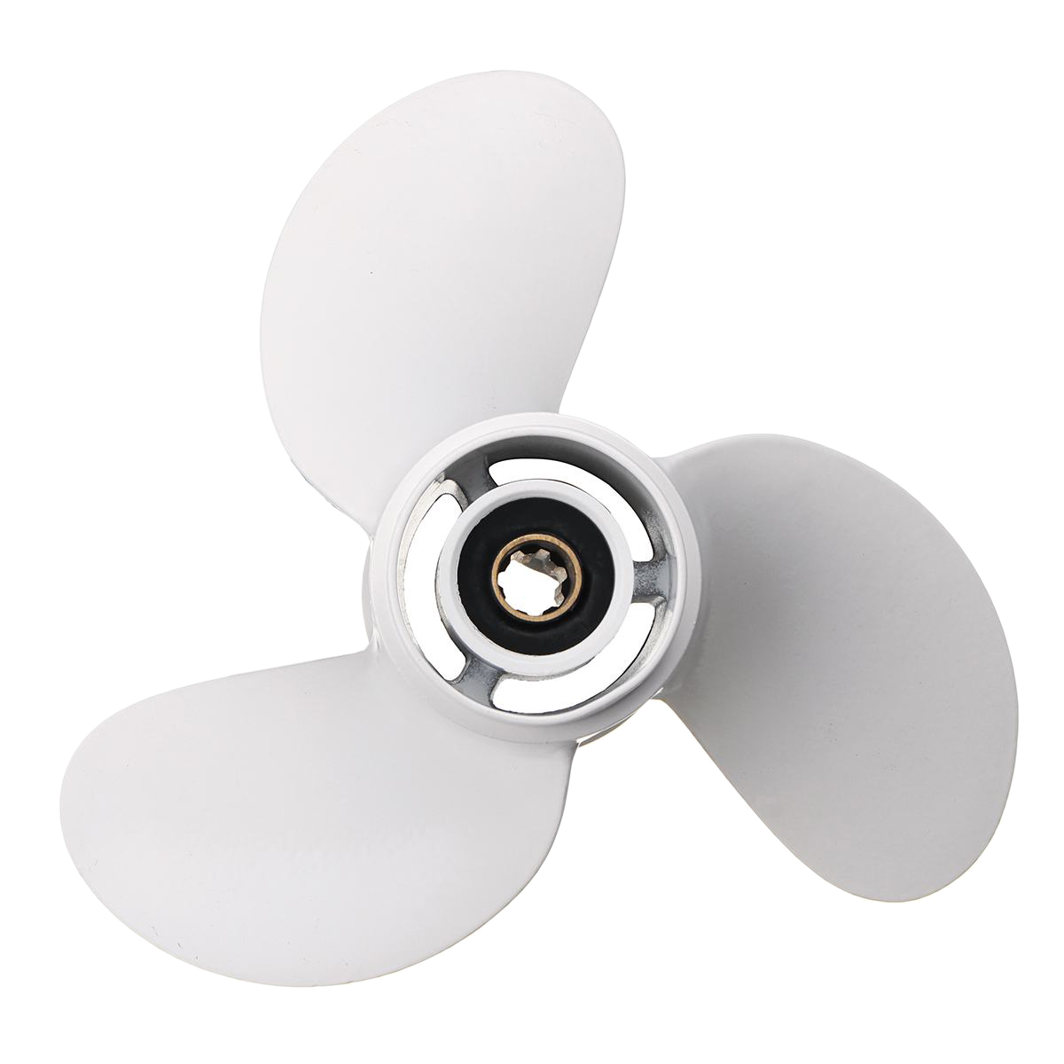 6G1-45941-00-El For Yamaha 6-8Hp 8 1/2 X 8 1/2 Boat Outboard Propeller White Aluminum Alloy 7 Spline Tooths R Rotation 3 Blade