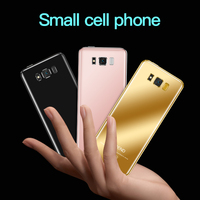 Touch Key Ultra Thin Cellphone Luxury Design Bluetooth Dialer Anti lost Dual SIM Mini Mobile Phone Camera 3.5mm Headphone Jack