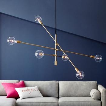 Nordic rotatable ceiling hanging chandelier light lamp LED gold black designer room post modern simple hanging light lamp LED
