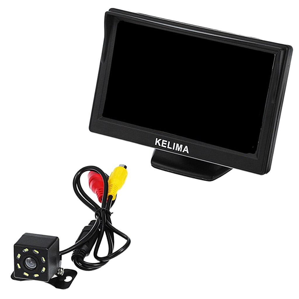 5 'écran d'affichage de voiture 8 LED Vision nocturne caméra de recul règle ligne noire