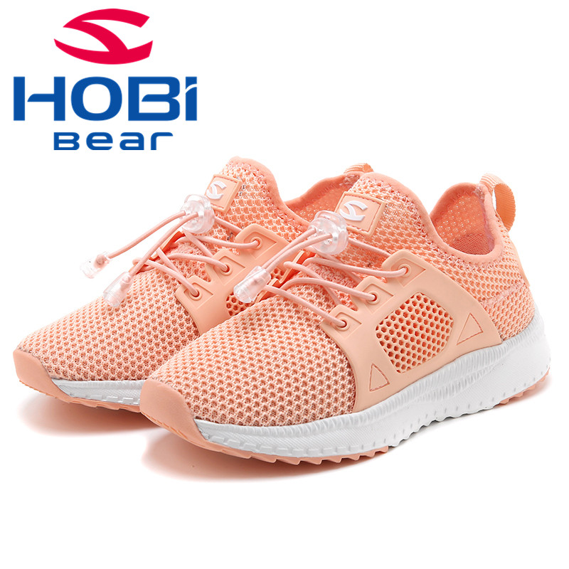Kids Sport Shoes Boys Girls Sneakers Shoes For Children Running Tennis Trainers Breathable Mesh Walking Footwear Hobibear AS3625 forudesigns kids sport shoes boys girls for children walking cycling running nebula pringting lace up sneaker shoes outdoor