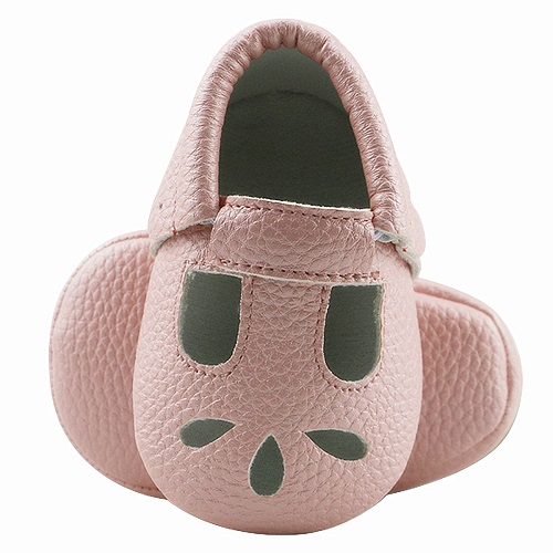 HONGTEYA PU Leather Baby Moccasins Soft Sole Hollow Baby Girls Shoes Breathable Summer Infant First Walker Shoes For 0-24M