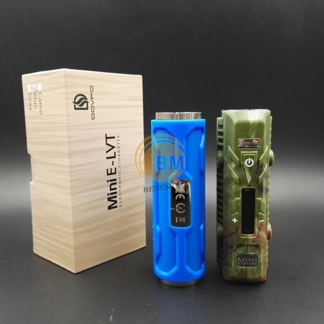 3 UNIDS Original Mini Elvt Dovpo e-lvt E Caja de Cigarrillos Mod 18650 ajuste mod smok tfv8 bebé vape atomizador electrónico cigarrillo