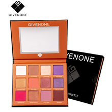 GIVENONE 12 Color eyeshadow Glitter Matte Cosmetics Dreamy Eyeshadow Palette Long-Lasting Waterproof Eye shadow pallette makeup