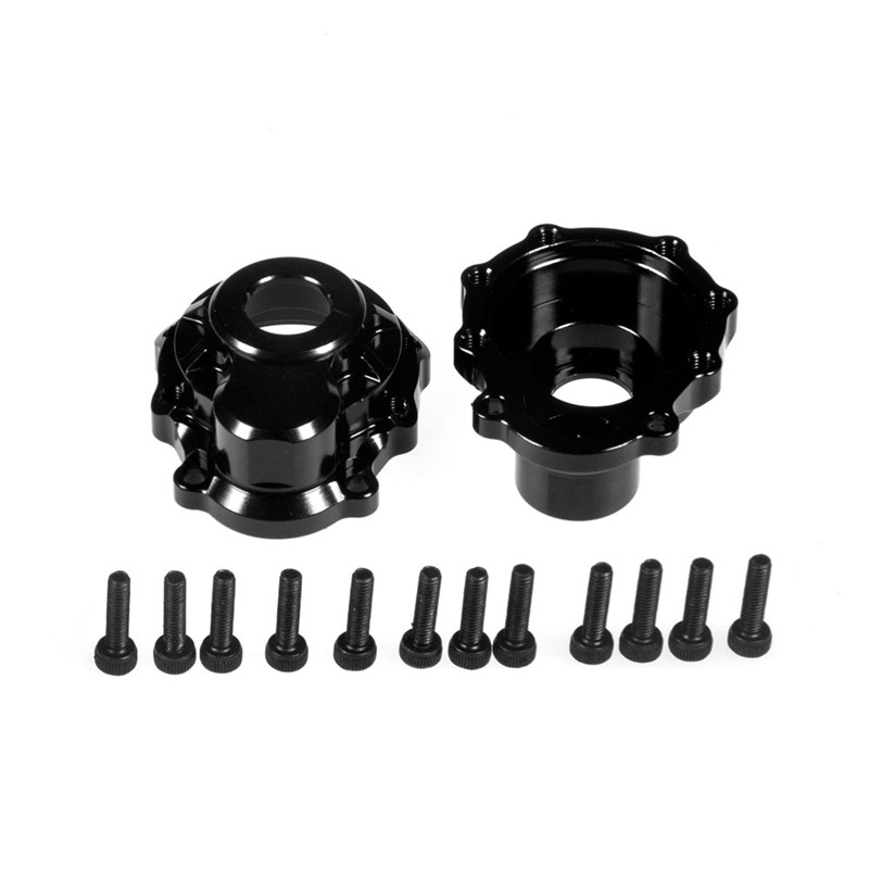 2 Pairs Metal Alloy Black Front/Rear Parts/Steering Hub Case Carrier Outter Cover for 1/10 RC Car Traxxas TRX-4 TRX4 Black mxfans rc 1 10 2 2 crawler car inflatable tires black alloy beadlock pack of 4