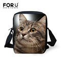 3D Animal Black Cat Printing Messenger Bag for Women Casual Crossbody Bags,Ladies Handbag Small Shoulder Bag Bolsos Mujer