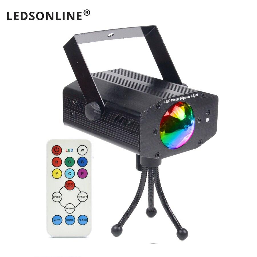 Video caliente de la venta nueva bombilla LED multicolor música luces etapa de iluminación láser soporte remoto IR DJ boda del hogar del partido club proyector