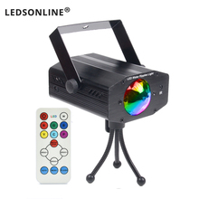 2017 hot sale new multi color LED bulb music Laser Stage Lights Lighting Support IR remote DJ Party Home Wedding Club Projector